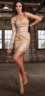 ABENZIO DRESS GOLD
