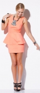 AYLAYLA PEPLUM DRESS NEON ORANGE