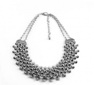 PARTY STUDZ SILVER NECKLACE