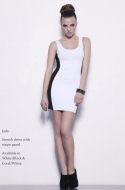 JADA DRESS - black/white