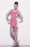 JADA DRESS - pink/white