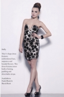 REILLY DRESS - nude/black