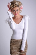 ROXANNE TOP - white