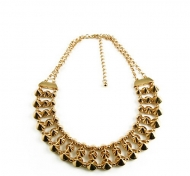STUDZ & LINKZ GOLD NECKLACE