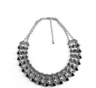 STUDZ & LINKZ SILVER NECKLACE